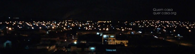 foto noturna apartamento ultimo andar