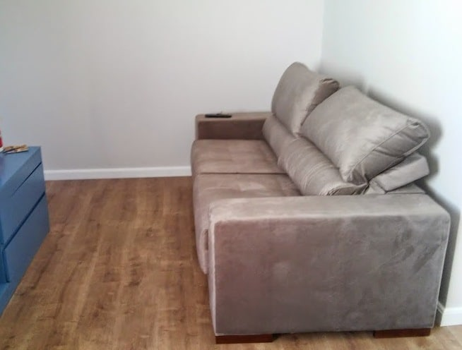 sofa retratil e reclinavel ape novo